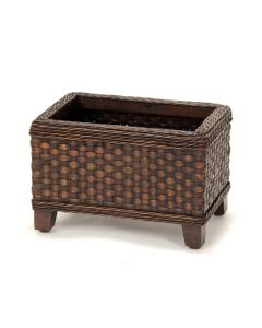 Rect Floor Planter Dd Splint indian Spatter Brown