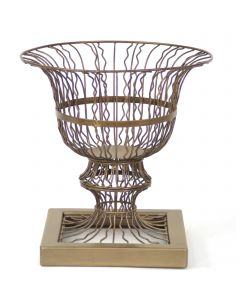 Mandy Wire Urn W/Base