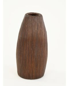 "18"" Vertical Pencil Rattan Vase Chocolate (Sold in Multiples of 2)"