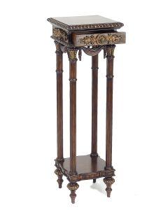 Mahogany Square Chateau Pedestal Table