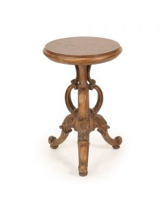 Round Scroll Pedestal Table