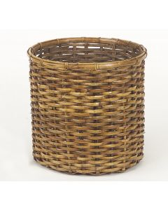 Split Rattan Tree Basket with Antique Stain