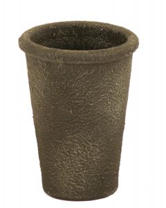 """6"""" Tapered Pot in Old Crunchy Lead Finish with Rounded Lip"""