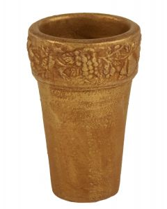 "7.5"" French Pot with Embossi Gold (Sold in Multiples of 2)"