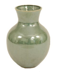 Earthenware Med Santa Fe Vase in Green (Sold in Multiples of 2)