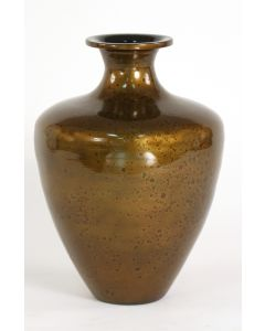 Large Watermark Vase in Lacquer Golden Tortoise