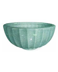 Large Pool Blue Glazed Highland Bowl