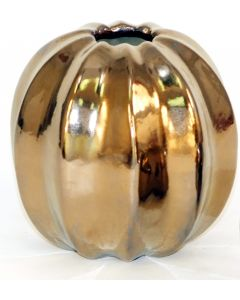Large Round Burnt Gold Vase (Sold in Multiples of 4)
