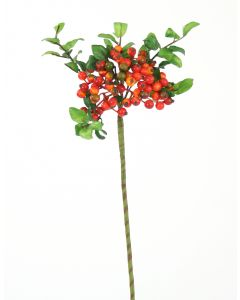 "14"" Wild Berry Ball Spray in Orange Red (Sold in Multiples of 24)"