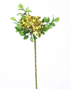 "14"" Wild Berry Ball Spray in Green Yellow (Sold in Multiples of 24)"