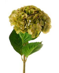 "16"" Large Hydrangea Pick - Green"