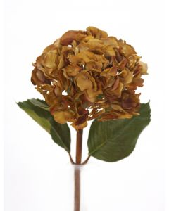 "16"" Large Hydrangea Pick in Burgundy Brown (Sold in Multiples of 12)"
