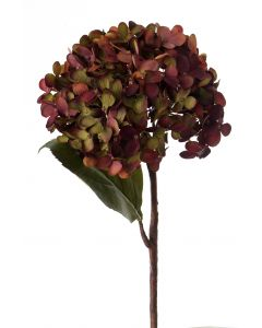 "14"" Hydrangea Pick with Fall Stem in Amethyst"