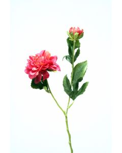 "16"" Dahlia Spray with 1 Flower 1 Bud"