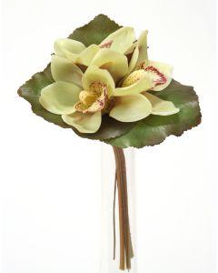 "7"" Cymbidium Bouquet in Light Green"