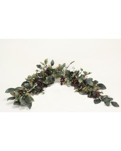 "87"" Grape Garland Dark Green Foliage"
