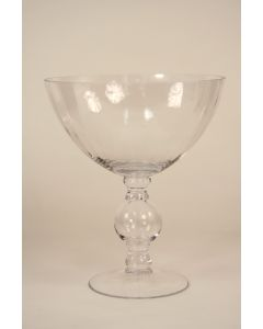 Large Footed Compote Clear Optic