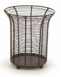 Wire Coil Basket with 4 Ball Feet in A Chocolate Brown Finish