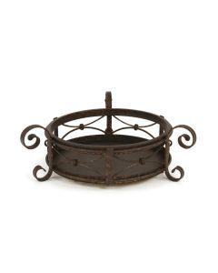 Round Wrought Iron Tray