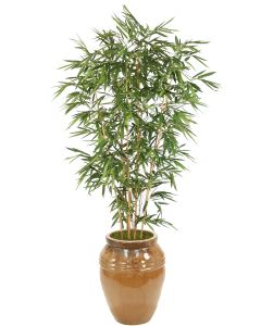 9' Bamboo Tree in Mocha Stoneware Water Jar