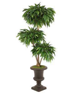 6' Layered Mango Tree In Rust Fiberglass Classic Urn