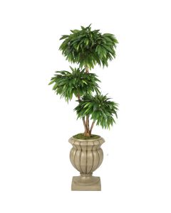 6'  Layered Mango in Sierra Stone Shelby Urn