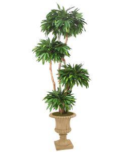 8' Layered Mango Tree in Tan Resin Classic Urn