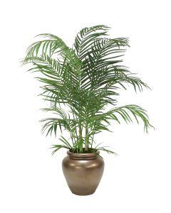 4' Areca Palm in Metallic Bronze Stoneware Water Jar