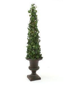 """53"""" Ivy Topiary in Rust Fiberglass Classic Urn"""