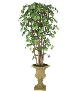 7' Ginko Tree in Tan Resin Classic Urn