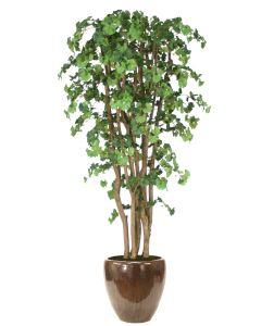 7' Ginko Tree in Metallic Mocha Stoneware Planter