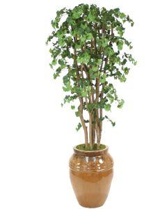 7' Ginko Tree in Mocha Stoneware Water Jar