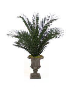 6' Phoenix Palm Tree in Rust Finish Resin Classic Urn