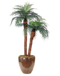 8.5' Phoenix Palm in Metallic Mocha Stoneware Planter