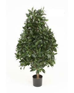 4.5' Laurel Pear-Shaped Topiary in Black Liner