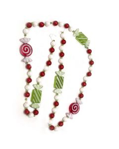 Designer Ornament Group featuring Candy Cane Garland
