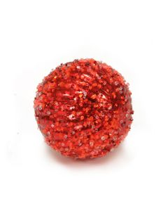 Designer Ornament Group featuring Ice Ridged Red Ornaments