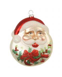 Designer Ornament Group featuring Glass Santa Face Disk