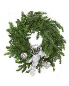 Pine Wreath with Silver Accents