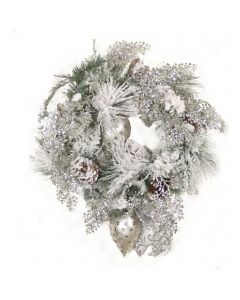 Snow Pine Wreath with Silver Accents