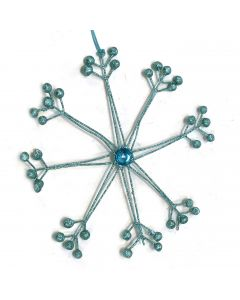 Designer Ornament Group featuring Blue Snowflake with Stone