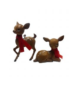 "Designer Ornament Group featuring 4"" Christmas Fawn Deer Ornaments"