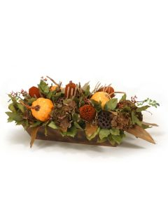 Harvest Centerpiece with Banksi and Hydrangeas
