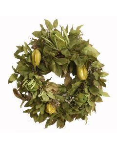 Harvest Bay Leaves and Natural Banksia Wreath
