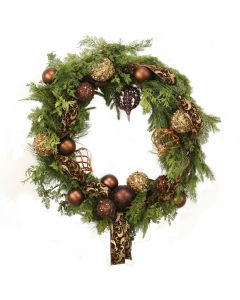Mixed Metallic Brown Wreath