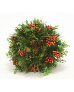 Mixed Pine Ball with Berriesand Pine Cones