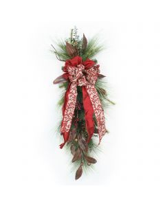 Pine Swag with Gandaria Leaves and Berries (Set of 2)