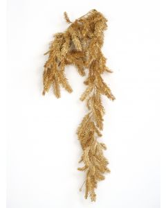 6' Plastic Laser Glittered Bald Cypress Garland in Gold (Sold in Multiples of 6)