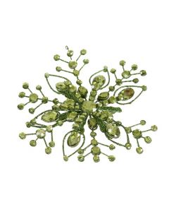 "6"" Hanging Jewel Snowflake Green (Sold in Multiples of 24)"