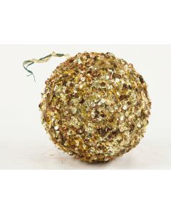 150mm Sequin Ball Ornament Gold